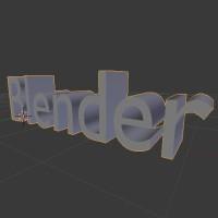 Blender 3d İle Basit Bir Yazı Oluşturalım