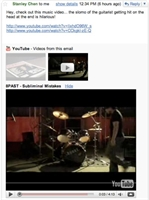 Youtube Videolarını Gmailden İzleyebilirsiniz