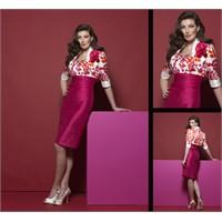 Sarah Danielle Pembe Renk Abiye Elbiseler