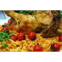 Şehriyeli Bulgur Pilavlı Nar Tavuk