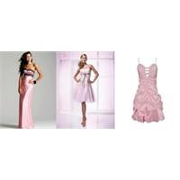 Renkli Gece Elbisesi Modelleri