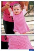 Kız Cocuklarına Örgü Elbise Modeli