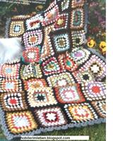 Renk Renk Motiflerle İşlenmiş Harika Battaniye