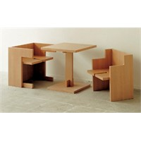 Küp Ahşap Masa Sandalye