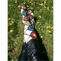 Bağcıklı Örgü Sandalet Mutlaka Görmelisiniz..!