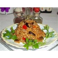 Domatesli Patlıcanlı Pilav
