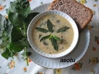 Patates Yapraklı Yoğurt Çorbası
