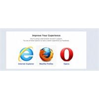 Facebook Chrome'u Önerdiği Tarayıcılardan Çıkardı