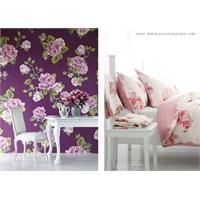 Çiçek Desenli Duvar Kağıtları İle Duvarlar
