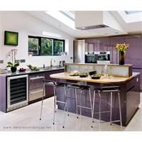 Mürdüm Renginde Mutfak Dolapları