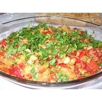 Közlemiş Patlıcan Biber Kavurması