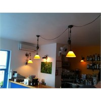 Bozcaada Polente Cafe Aydınlatma
