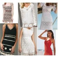 Yazlık Örgü Elbise Modelleri 2012 Sezonu