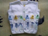 Açıklamalı Palyaçolu Bebek Yeleği