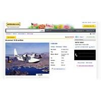 İnternetten Uçağını Satışa Çıkardı