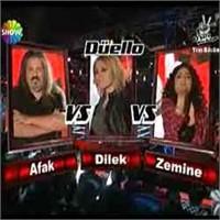 O Ses Türkiye – Düello: Afak & Dilek & Zemine Yor