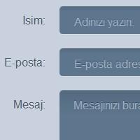 Html5 & Css3 İletişim Formu Yapımı