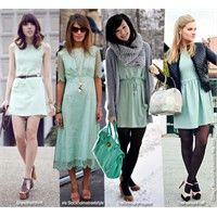 Su Yeşili Elbise Trendi