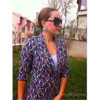 Vintage Trend/ Damask Desen Blazer