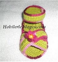 Örgü Sandalet Modeli