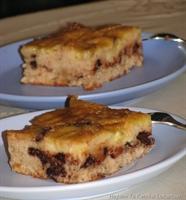 Muzlu Ve Çikolata Parçalı Alt-üst Keki