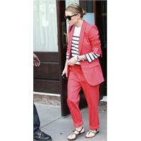 Olsen Trendi: Çizgili Bluz&takım Elbise&sandalet