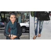 Kim Kardashian'ın Yırtık Kot Modası!