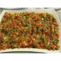 Sevilen Patlıcanlı Biber Salatası