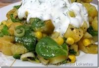 Semiz Otlu Patates Salatası