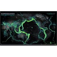 Dünyanın Deprem Geçmişi Haritası