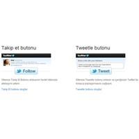 Twitter Takip Et Ve Tweet Butonu Ekleme