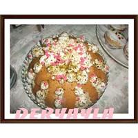 Muzlu Mascarponeli Kedidili Pasta