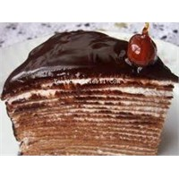 Mükemmel Krepli Çikolata Soslu Pasta