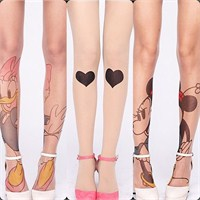 Desenli Külotlu Çoraplar Ve Pazartesi Günü Kombini