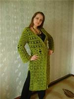 Tığ İşi Yazlık Yeşil Bayan Hırka Modeli