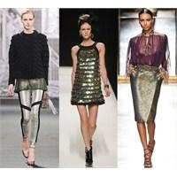 2012 Sonbahar Kış Moda Trendi: Metalik Parlaklık