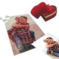 Kadife Kalp Kutuda 99 Parça Kişiye Özel Puzzle