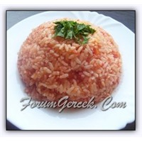 Domatesli Pirinç Pilavı Besin Tablosu İle Birlikte