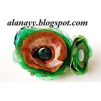 Yakma Güllerden Taçlar - Yeşil Seri-