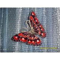Vitray Cam Boyama Tekniği Dekoratif Kelebekler