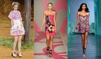 2010 Çiçekli Elbise Modelleri