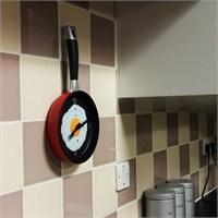 Tava Şeklinde Duvar Saati- Frying Pan