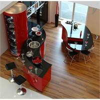 Kırmızı Hazır Mutfak Modelleri