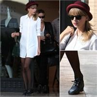Taylor Swift'in Gömlek Elbisesi
