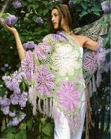 Rengarenk Çiçek Motifli Çok Şık Şal Yapımı