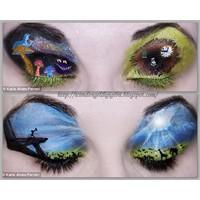Göz Kapağinda İlginç Sanat ...