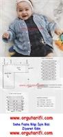 Anlatımlı Bebek Örgü Mavi Hırka Yapılışı
