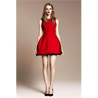 Zara Kırmızı Elbise Modelleri