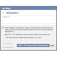 Facebook'ta Mesaj Göndermek Artık Ücretli