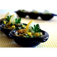 Limonlu Közlenmiş Patlıcan Salatası